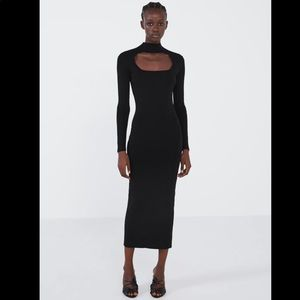 Zara NWT cut out knit dress